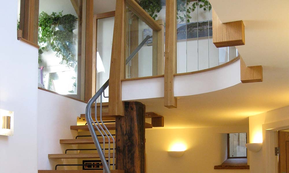 Staircase made in Oak