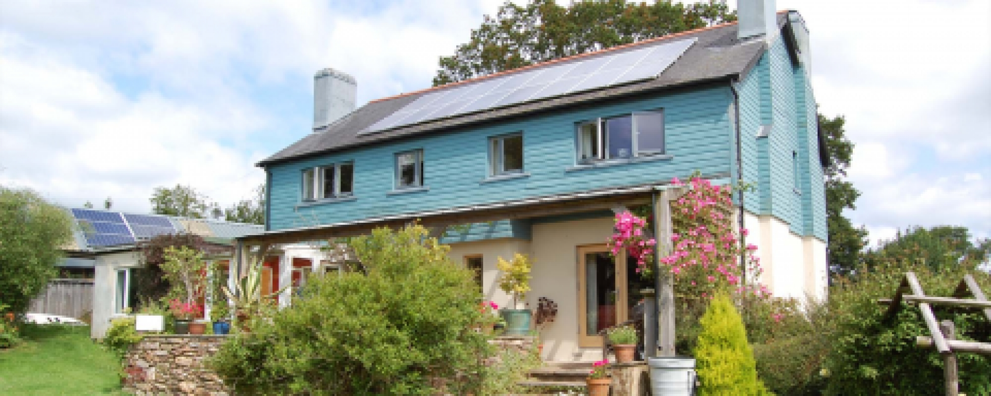 Painted Uk grown Cedar Cladding