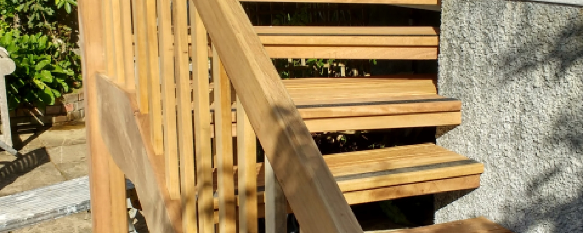 Timber steps